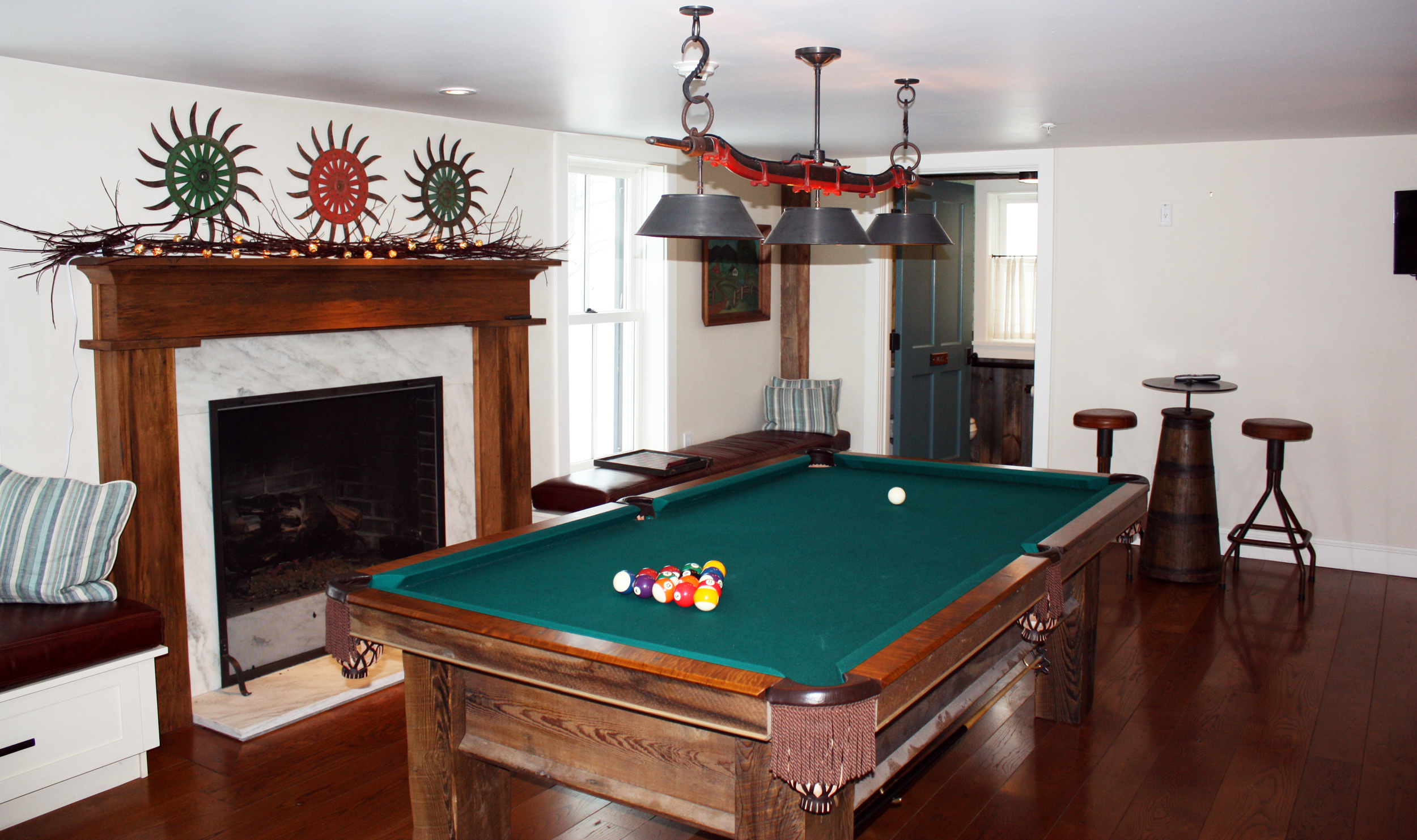 Pool Table Living Room Hill Farm Inn Sunderland Vermont